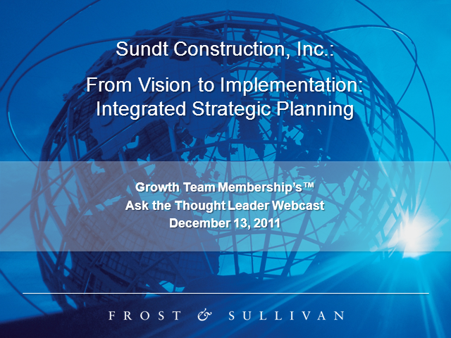 From Vision to Implementation: Integrated Strategic Planning