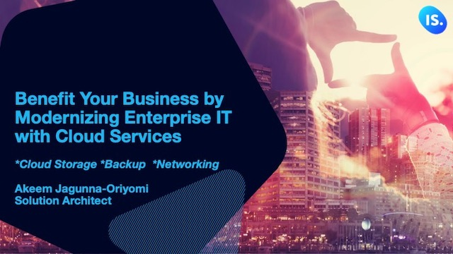 Benefit Your Business by Modernizing Enterprise IT with Cloud Services