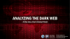 Analyzing the Dark Web - A Dive into a Dark Criminal World
