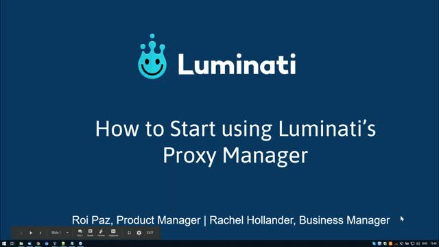 How to start using the Luminati Proxy Manager