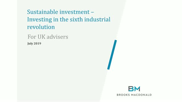 UK Advisers: Sustainable investment - Investing in the 6th industrial revolution