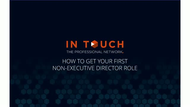 Securing Your First NED Role