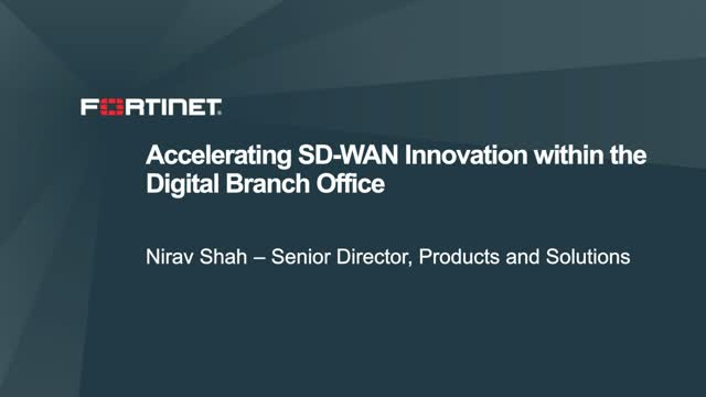 Accelerating SD-WAN Innovation within the Digital Branch Office