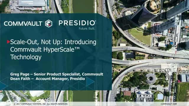 Scale-Out, Not Up: Introducing Commvault HyperScale Technology