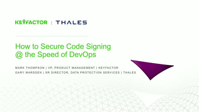 How to Secure Code Signing at the Speed of DevOps