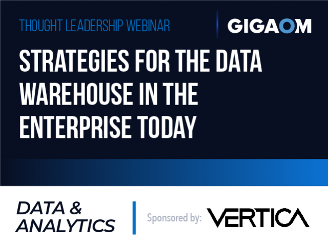 Strategies for the Data Warehouse in the Enterprise Today