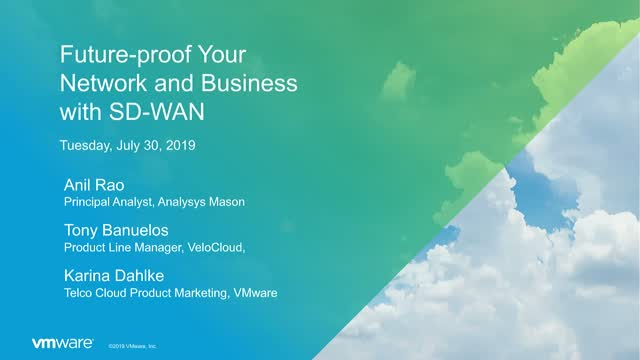 Future-proof your Network and Business with SD-WAN