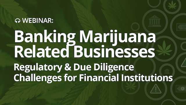 Are you banking Marijuana-Related Businesses?