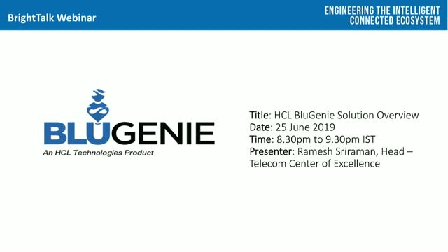 HCL BluGenie Solution Overview