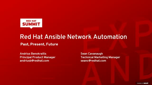 Red Hat Ansible Network Automation: Past, present, future