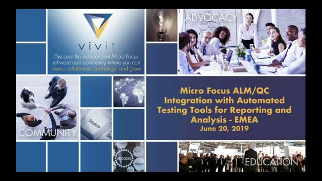Micro Focus ALM/QC Integration w/ Automated Testing for Reporting Analysis EMEA