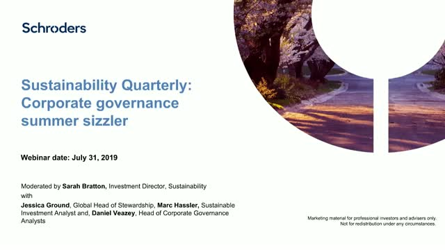 Sustainability Quarterly July 2019