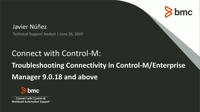 Connect With Control-M: Troubleshooting Connectivity in Control-M/Enterprise Man