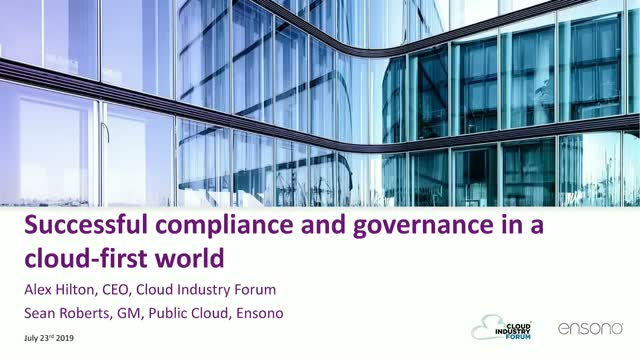 Successful compliance and governance in a cloud-first world