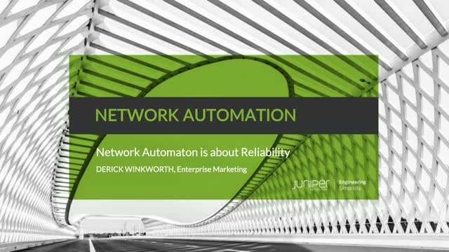 Network Automation: Network Automation is About Reliability