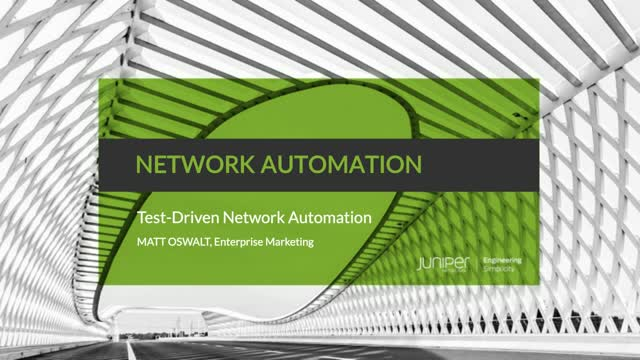 Test-Driven Network Automation