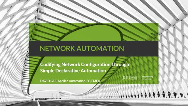 Codifying Network Configuration Through Simple Declarative Automation