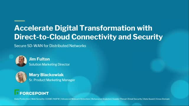 Accelerate Digital Transformation with Direct-to-Cloud Connectivity and Security