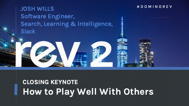 Keynote: How to Play Well With Others