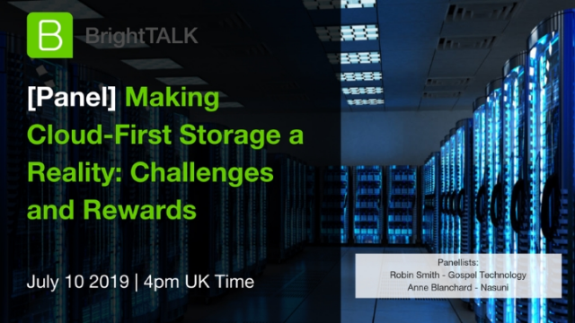 [Panel] Making Cloud-First Storage a Reality: Challenges and Rewards