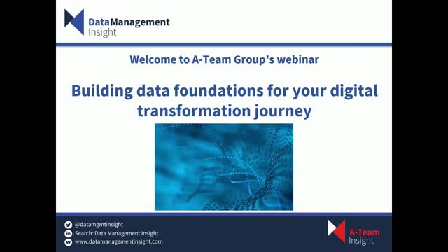 Building the Data Foundations for Your Digital Transformation Journey