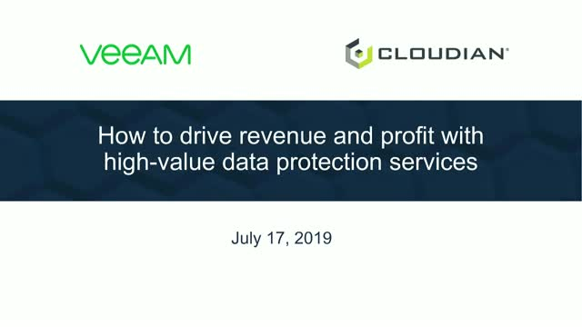 Drive more revenue for Veeam-powered cloud services with Cloudian