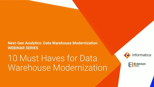 Data Warehouse Modernization: 10 Must-Haves for Analytics and AI Projects