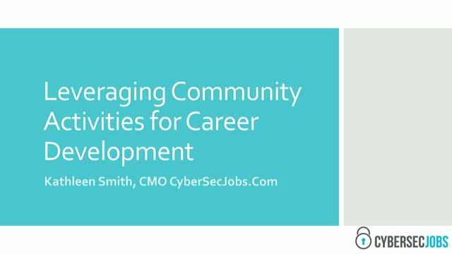 Leveraging Community Involvement for Career Development
