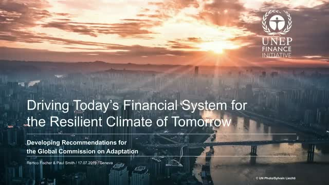 Driving Today's Financial System for the Resilient Climate of Tomorrow