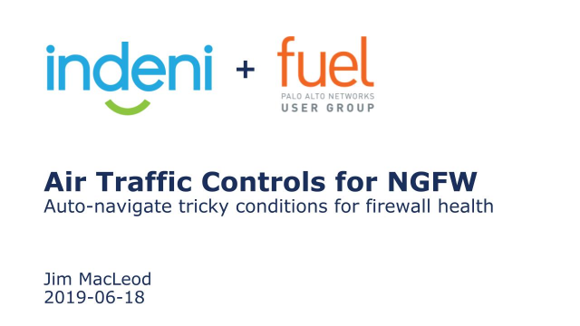 Air Traffic Control for NGFW