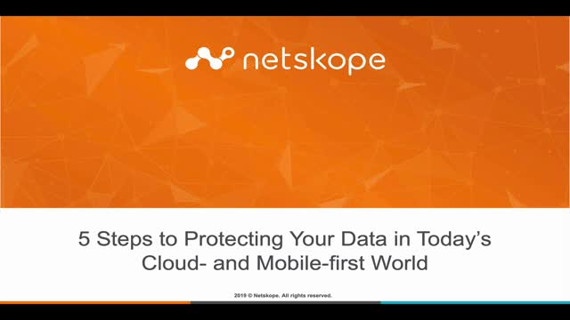5 Steps to Protecting Data in Today's Cloud and Mobile-First World