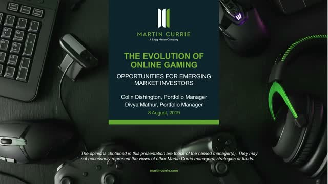 The evolution of online gaming – Opportunities for Emerging Markets investors