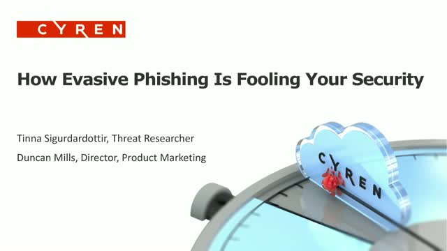 How Evasive Phishing Is Fooling Your Security