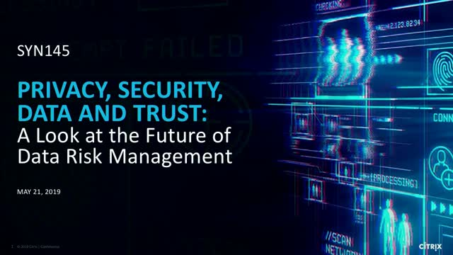 Privacy, security, data and trust: a look at the future of data risk management