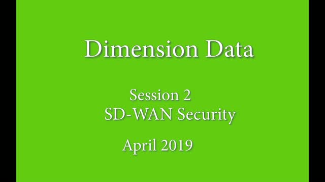 WAN Transformation and Security Challenges