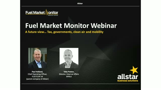 Fuel Market Monitor Webinar - featuring Allstar and the BVRLA