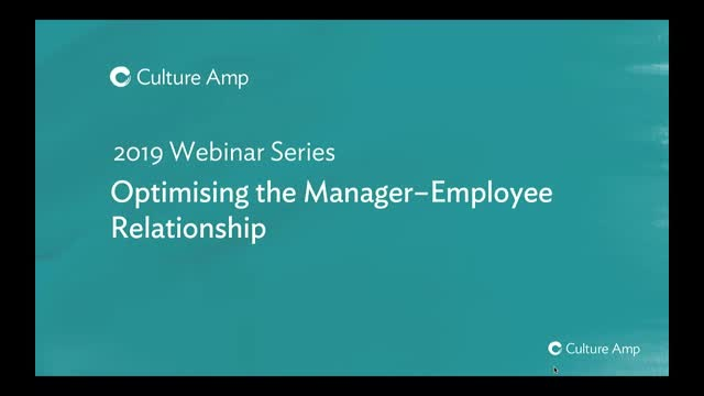 Optimising the manager - employee relationship