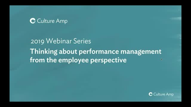 Thinking about performance management from the employee's perspective
