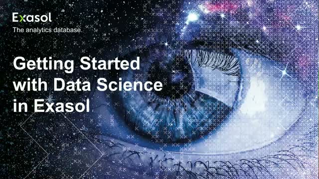 Getting Started with Data Science in Exasol