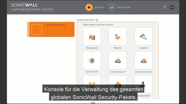 Verwalten Sie Ihr Security-Ökosystem mit SonicWall Capture Security Center