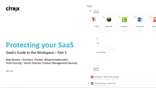 Geek's guide to the workspace (part 3): protecting your SaaS