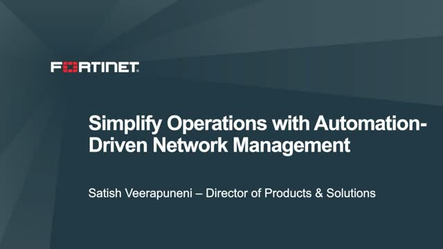 Simplify Operations with Automation-Driven Network Management