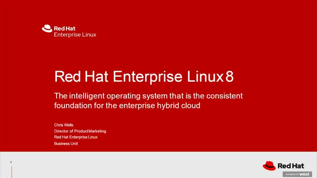 An Overview of Red Hat Enterprise Linux 8
