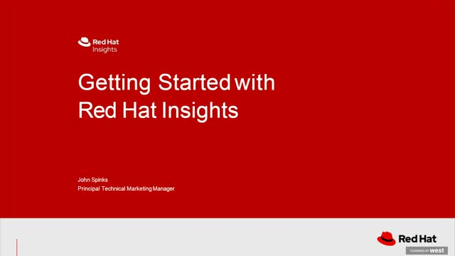 Getting Started with Red Hat Insights