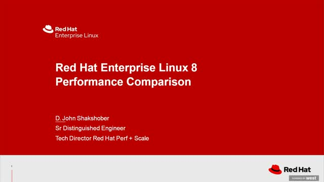Performance analysis and tuning of Red Hat Enterprise Linux