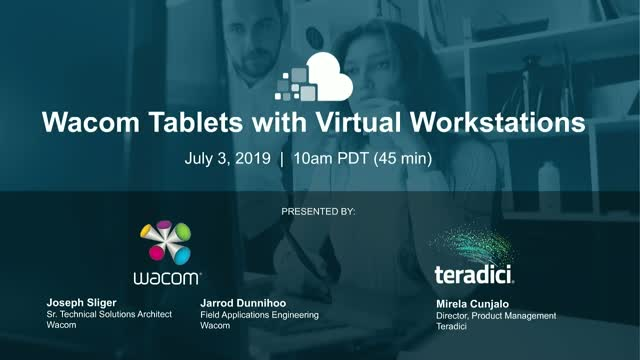 Wacom Tablets with Virtual Workstations​