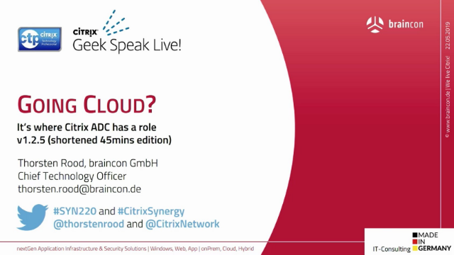 Going cloud? It's where Citrix ADC has a role!