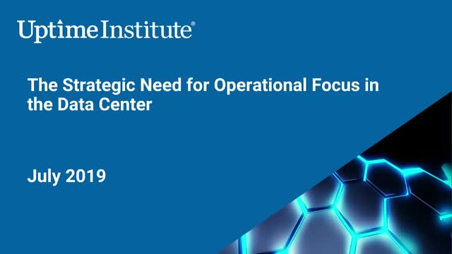 The Strategic Need for Operational Focus in the Data Center
