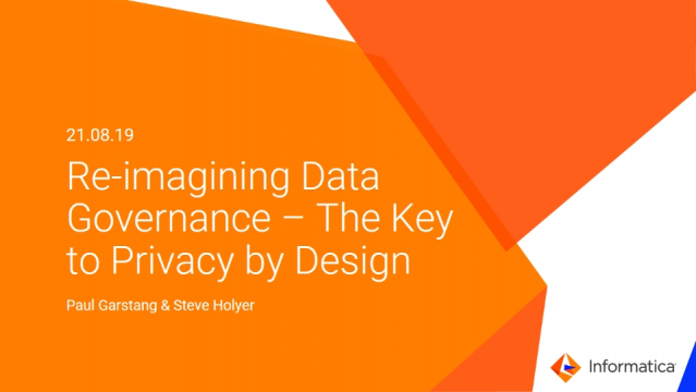 Reimagining Data Governance - The Key to Privacy by Design (1/3)