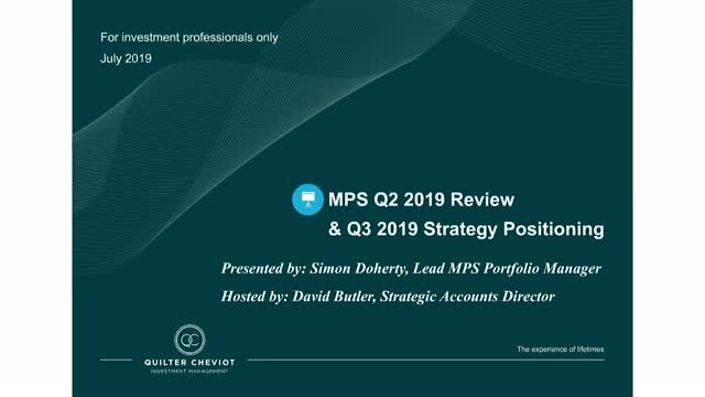 Quilter Cheviot MPS Q2 2019 review
